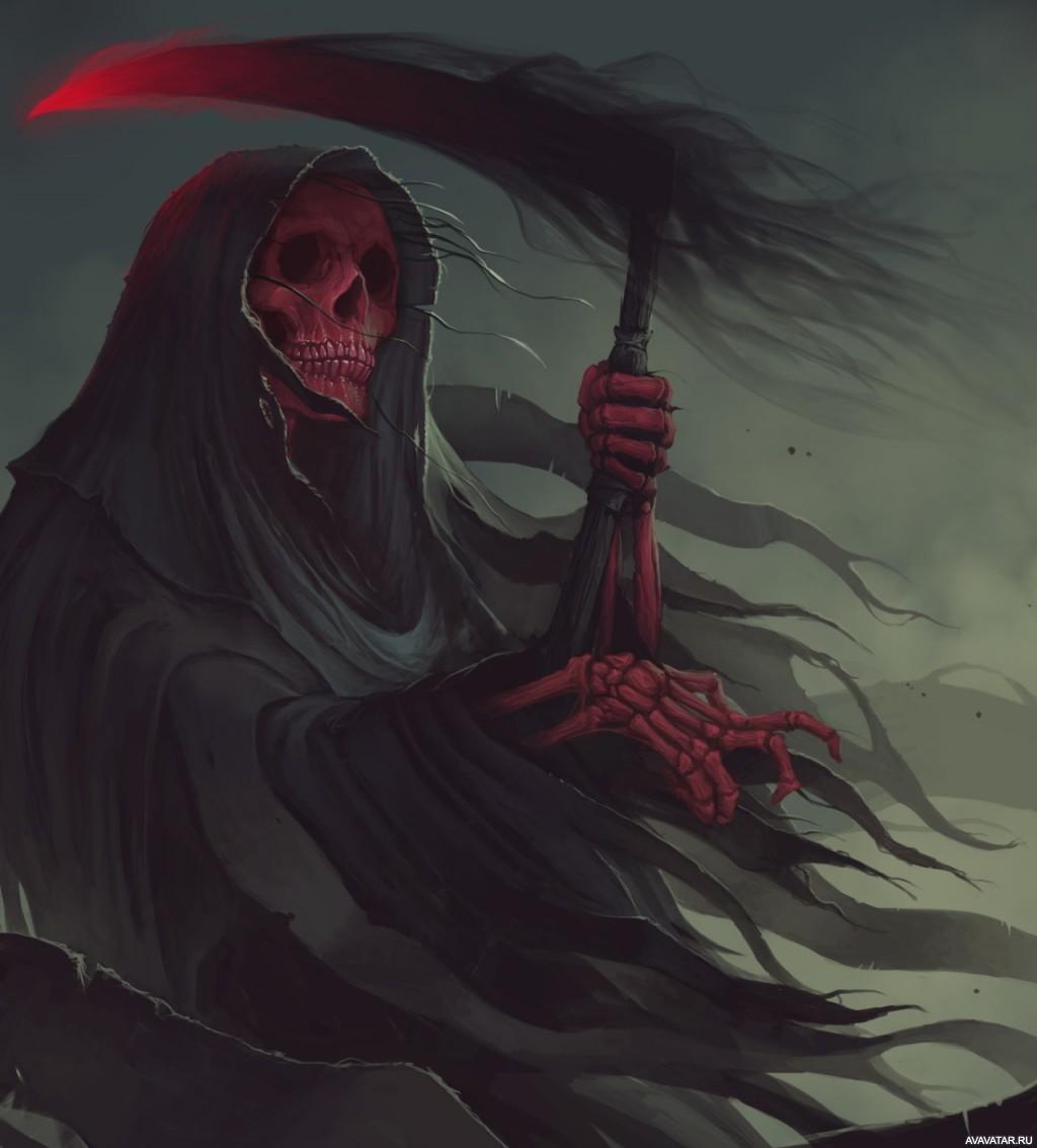 Картинки смерти с косой красивые