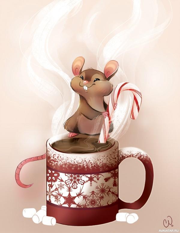 Картинки с мышкой доброе утро