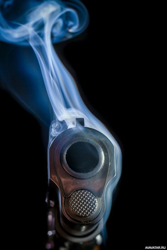 дым из ствола фотографии происходит