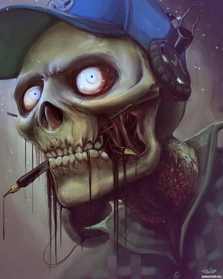 скелет картинки на аватар относятся