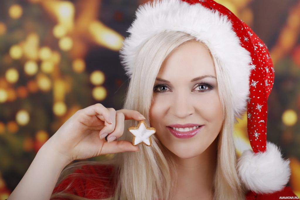 Девочек фото красивые новогодней
