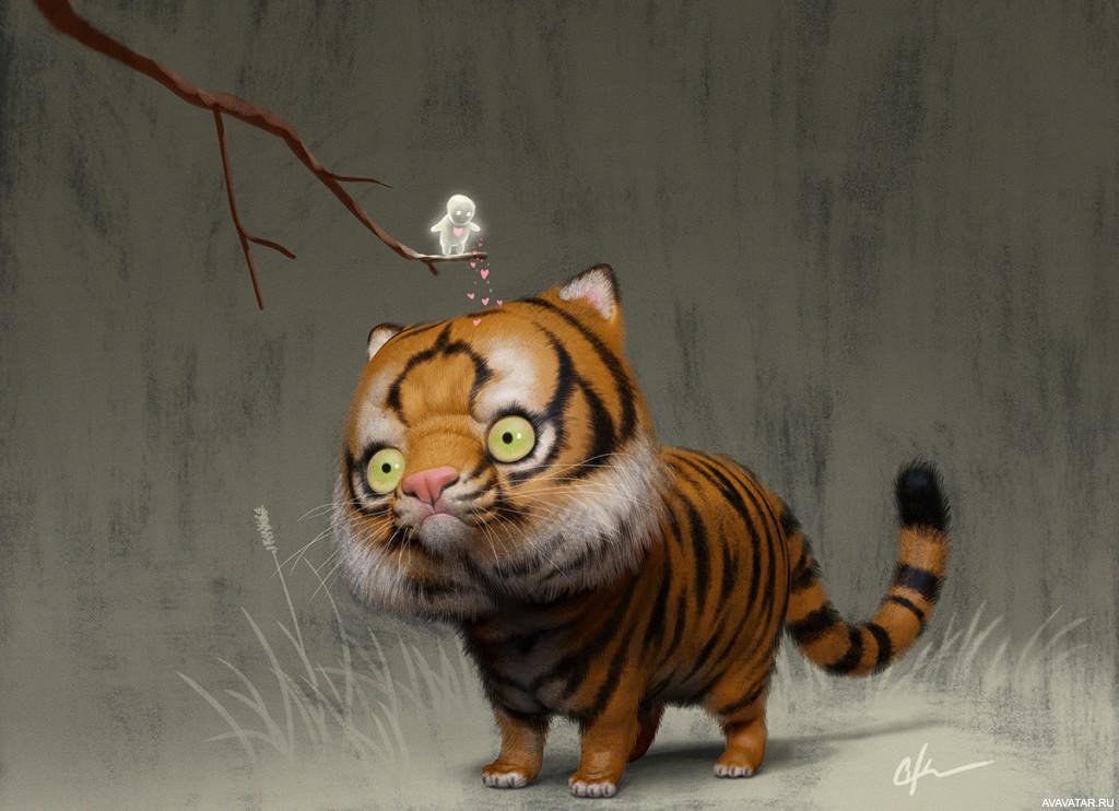 мультяшные тигры картинки не для тебя под этим