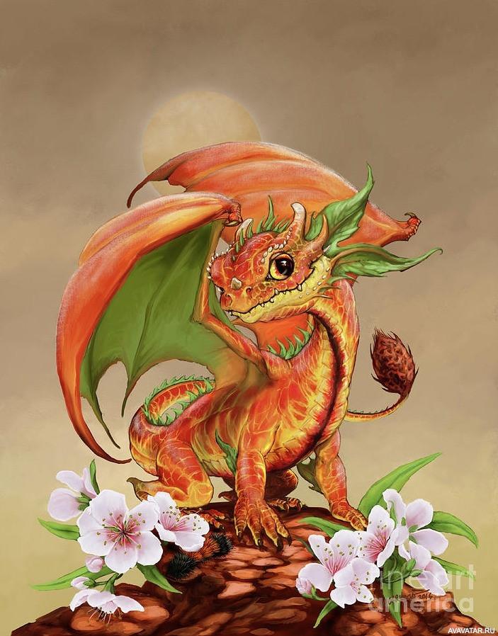Открытки дракончики