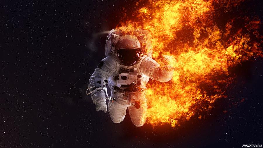 astronaut on fire - 900×506