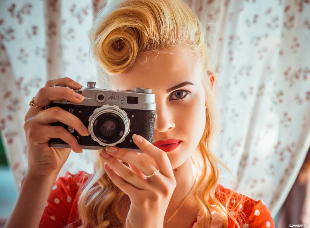 Картинки девочка по фотоаппарату