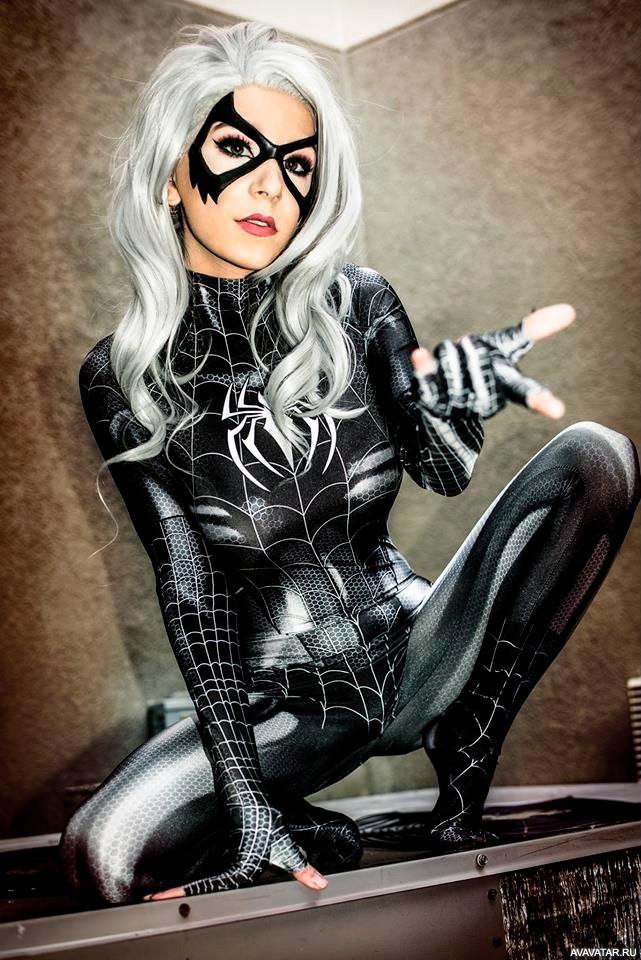 spiderman black cat costume - 736×1102