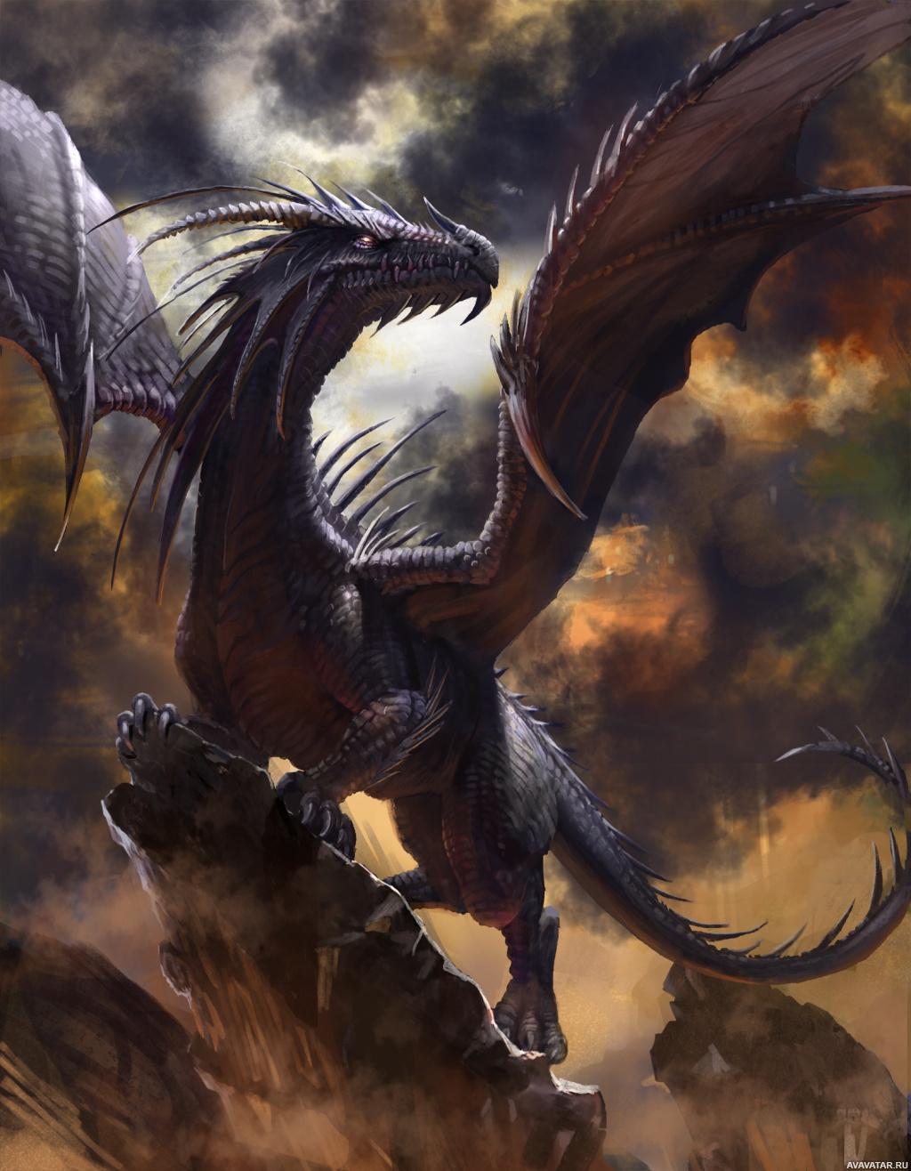 нашей картинки фэнтази дракон если