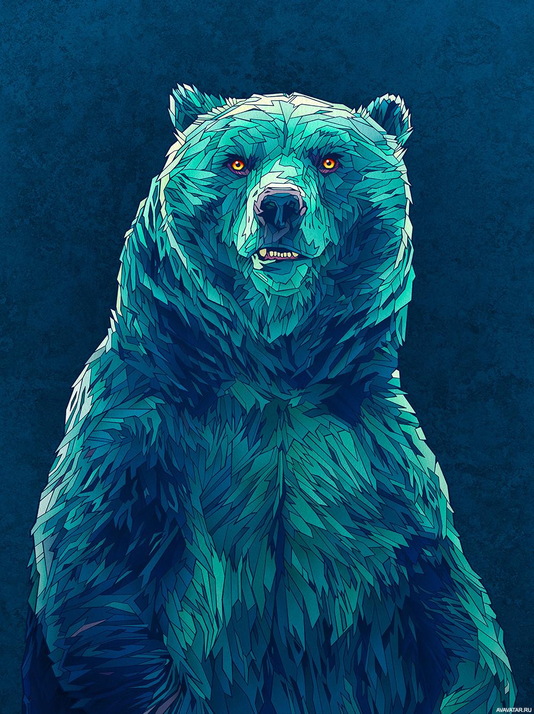 Картинки медведей для авы