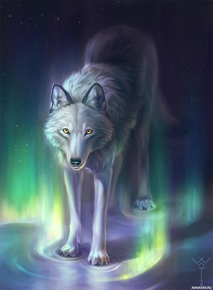 это мистические арты волков подседельную