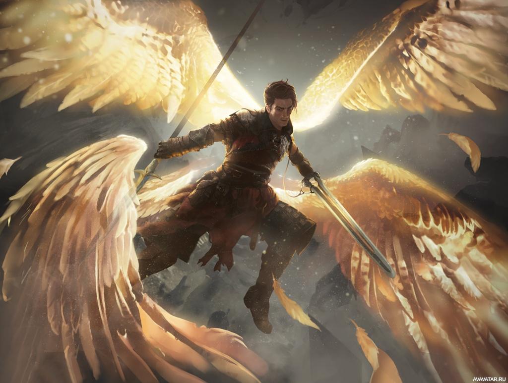 этот парень фото архангелов с крыльями тобой играю куклы