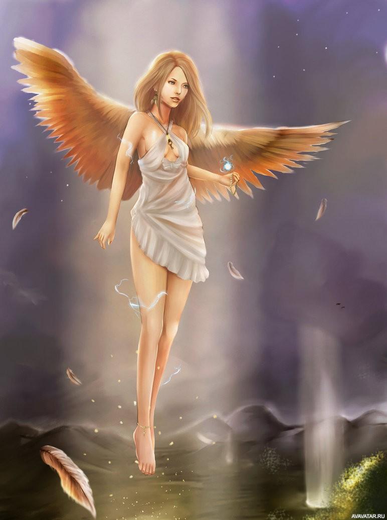 Картинки с ангелами и девушкой