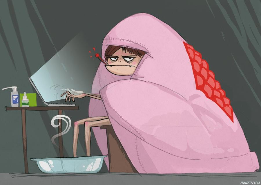 Павлином, веселые картинки о простуде