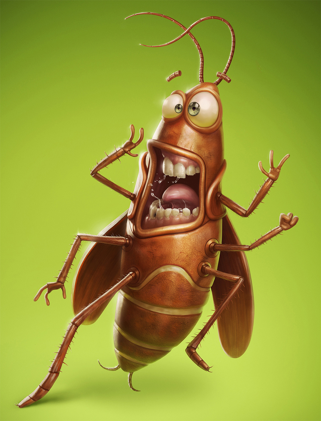 Для, прикольные рисунки тараканов