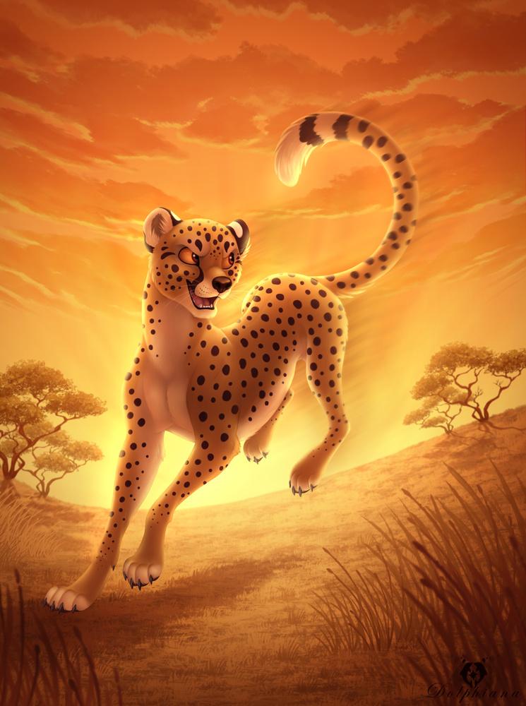 картинки с леопардами мультяшными