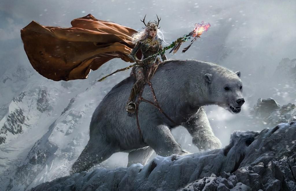 картинки белых медведей фэнтези