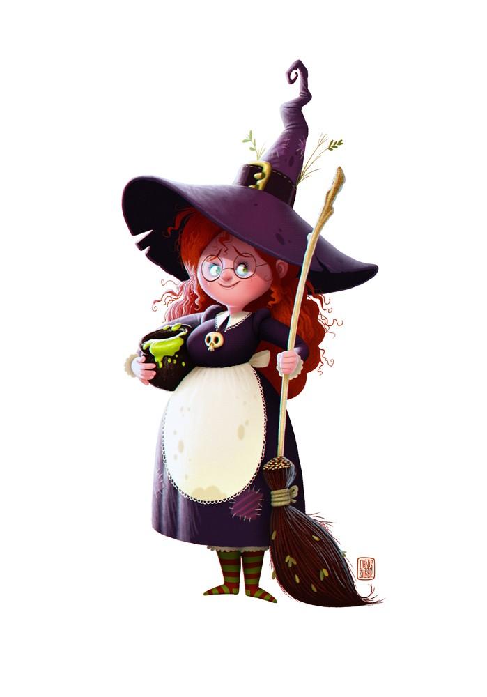 Картинка ведьмы прикольная