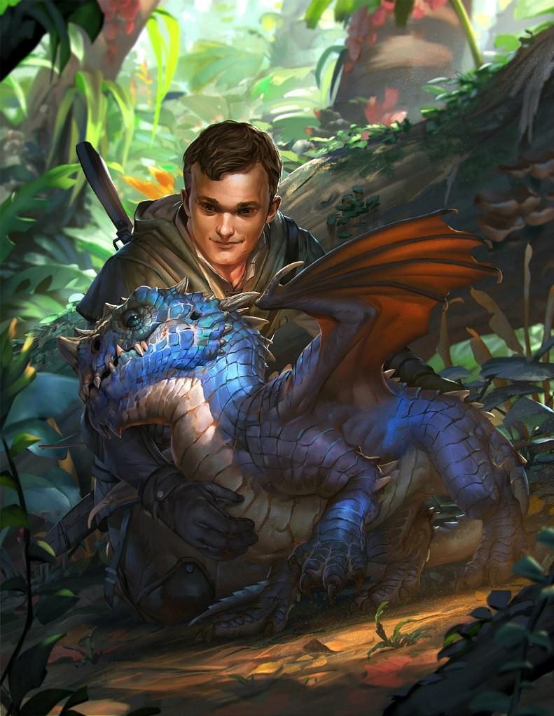Картинки дракон и мужчина