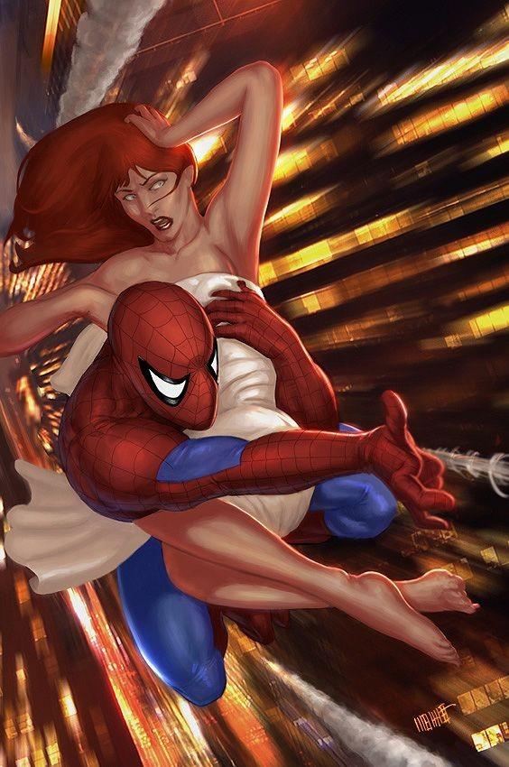 Spiderman mary jane kiss